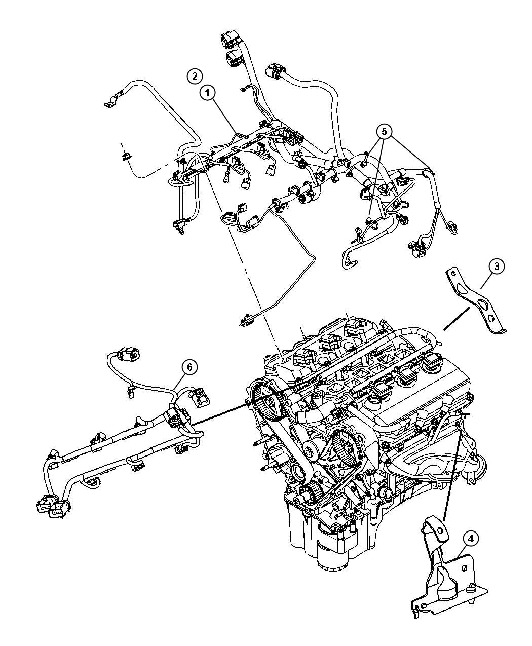 Chrysler Pacifica Wiring  Fuel Rail  After 11  03  04