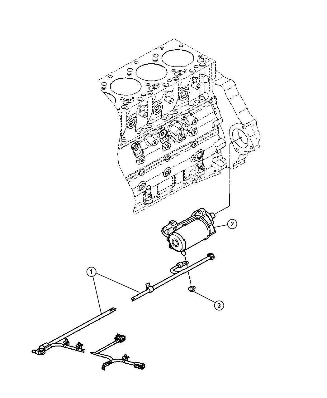 Dodge Ram 3500 Starter  Engine  Exportcummins