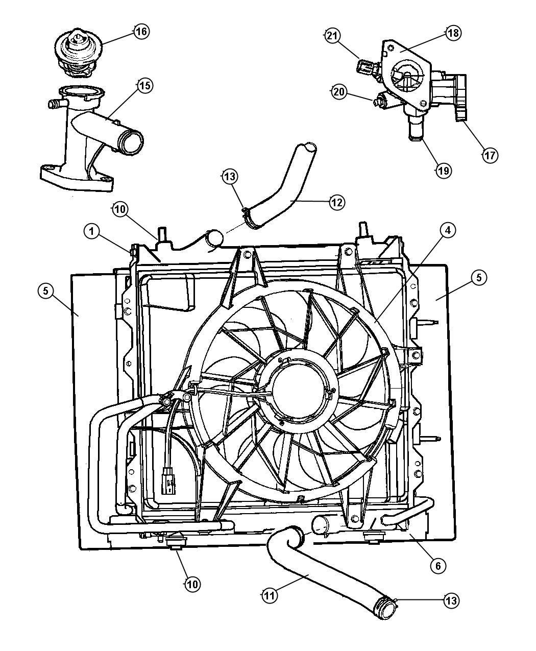 pt cruiser radiator parts diagrams pt free engine image. Black Bedroom Furniture Sets. Home Design Ideas