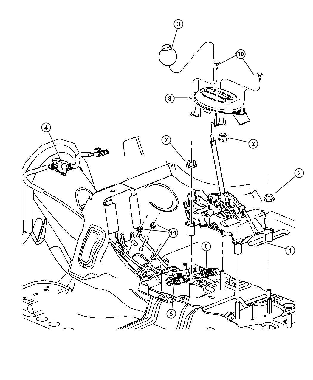 2002 Chrysler Pt Cruiser Cable  Ignition Interlock