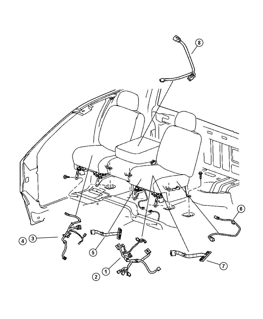 Dodge Ram 1500 Wiring  Jumper  Armrest  Trim   Seat