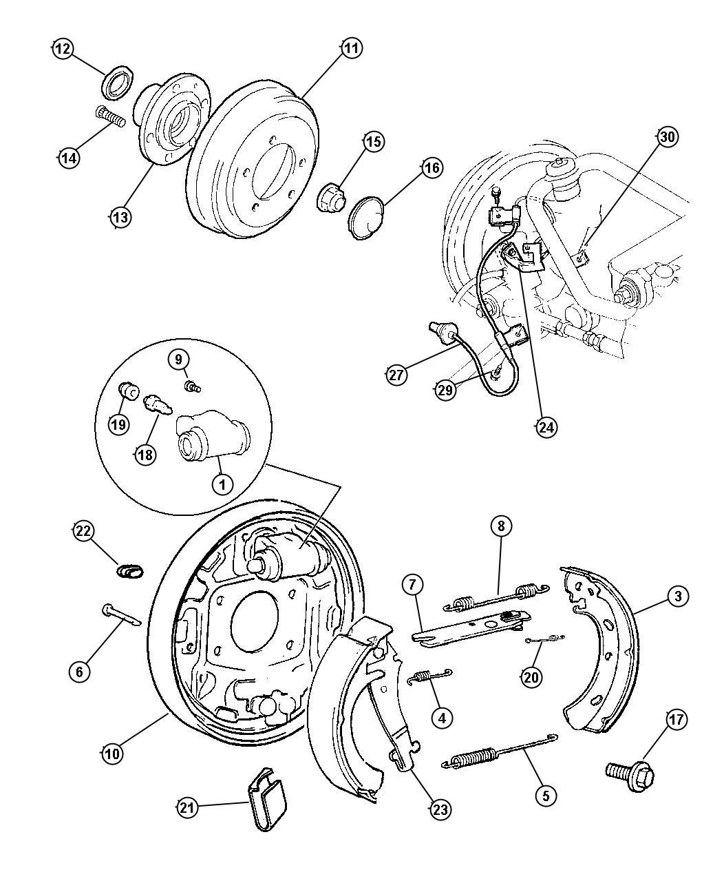 for 2000 dodge stratus strut diagram