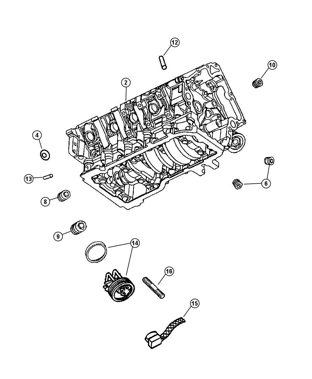 Chrysler Aspen Engine  Long Block  Remanufactured