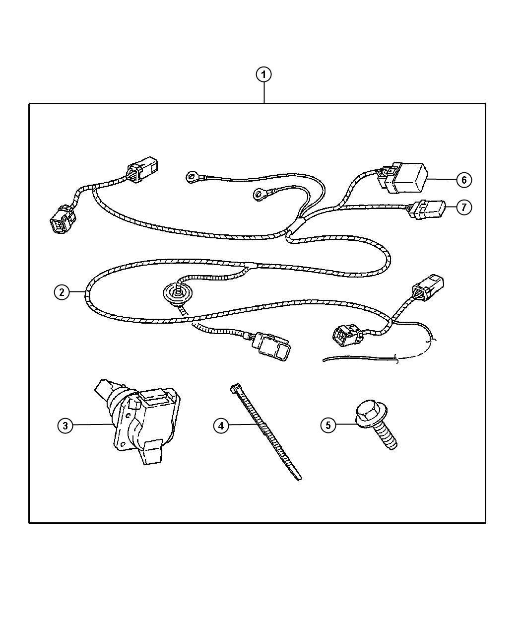 82208107ac - wiring kit  trailer tow