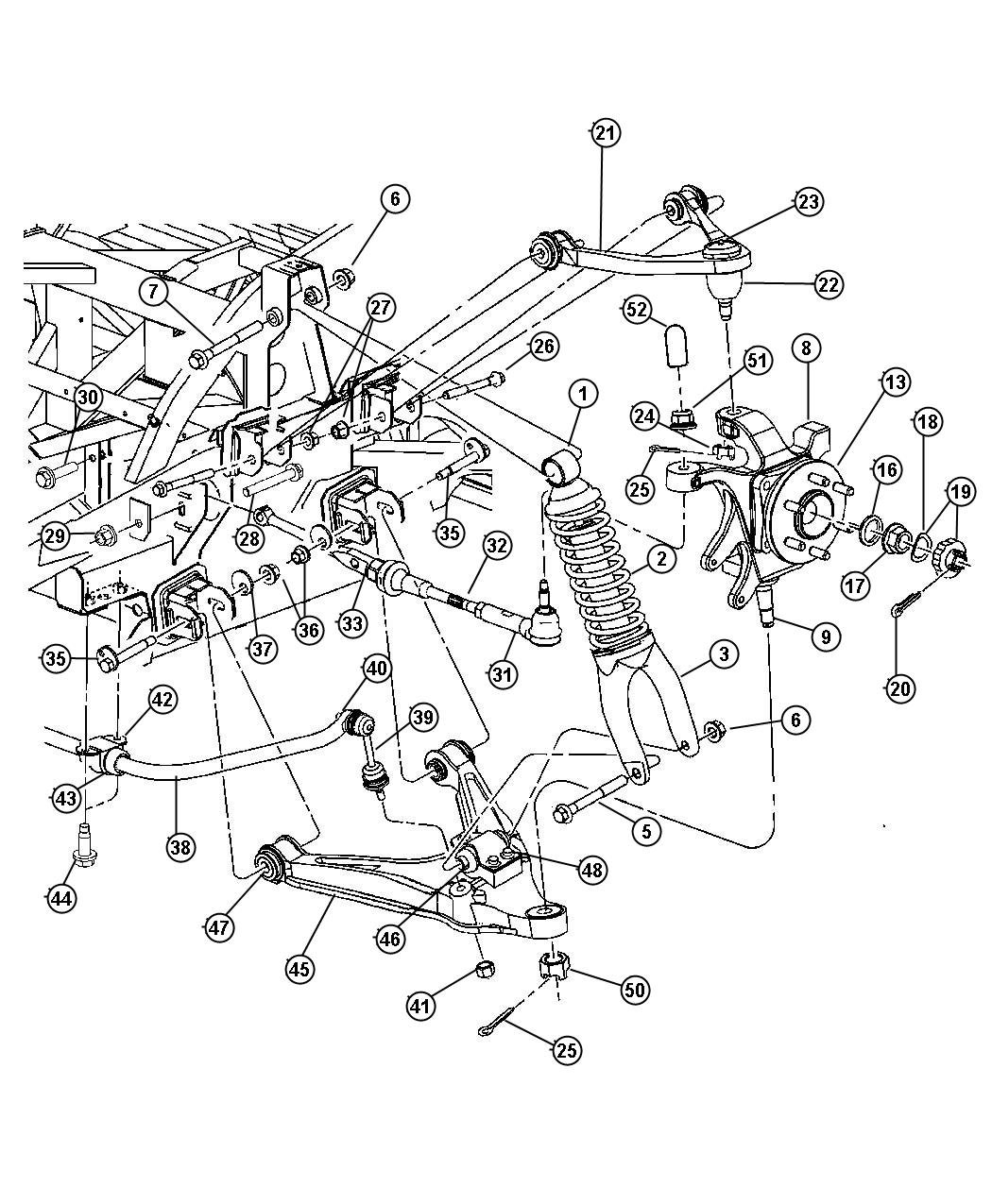 Diagram Suspension, Rear. for your 2005 Dodge Viper COMP. Coupe 8.3L V10