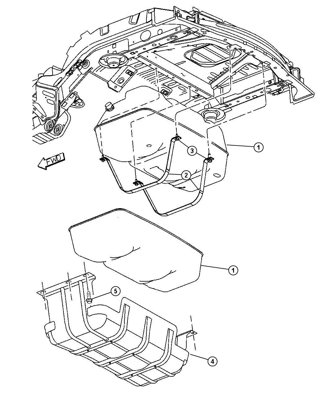 52128911ak - mopar tank  fuel