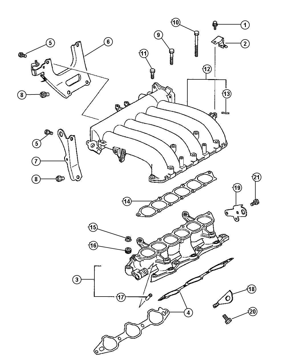 Dodge Avenger Fitting  Vacuum  Nipple