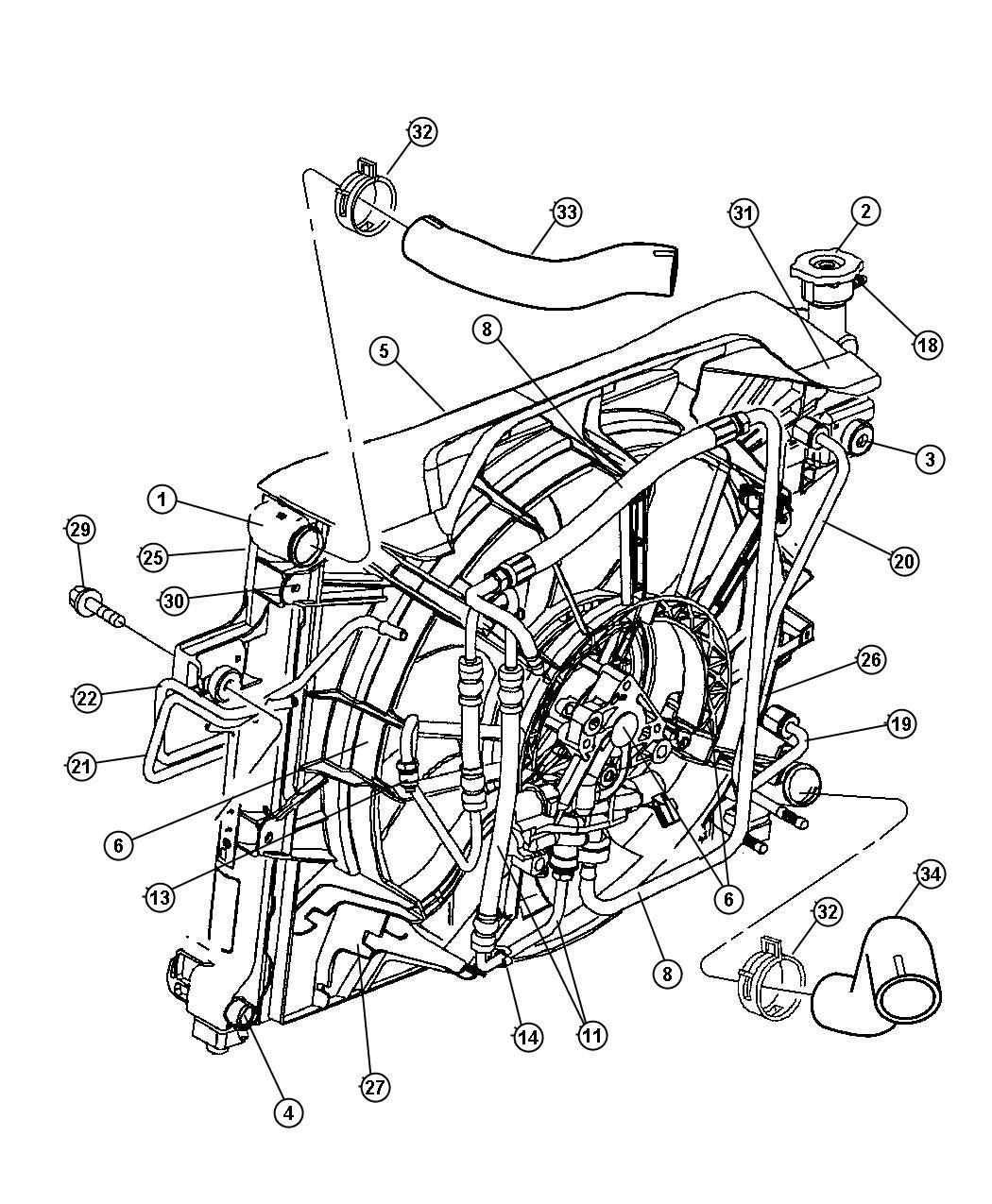 52079860AE - Jeep Fan. Radiator cooling. Conector | Mopar ...