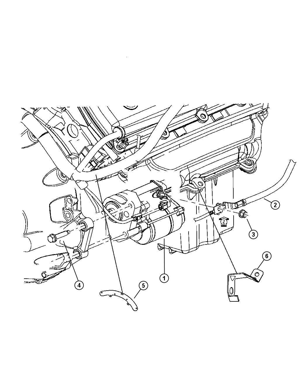 2006 Chrysler 300 Starter   5 7 5 7l V8 Hemi Mds Engine