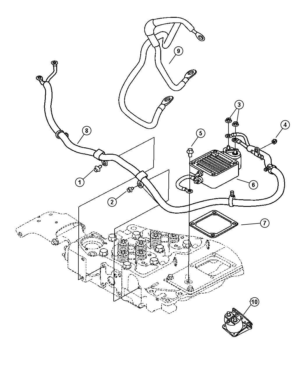 2009 Dodge Ram 3500 Wiring  Air Intake Heater