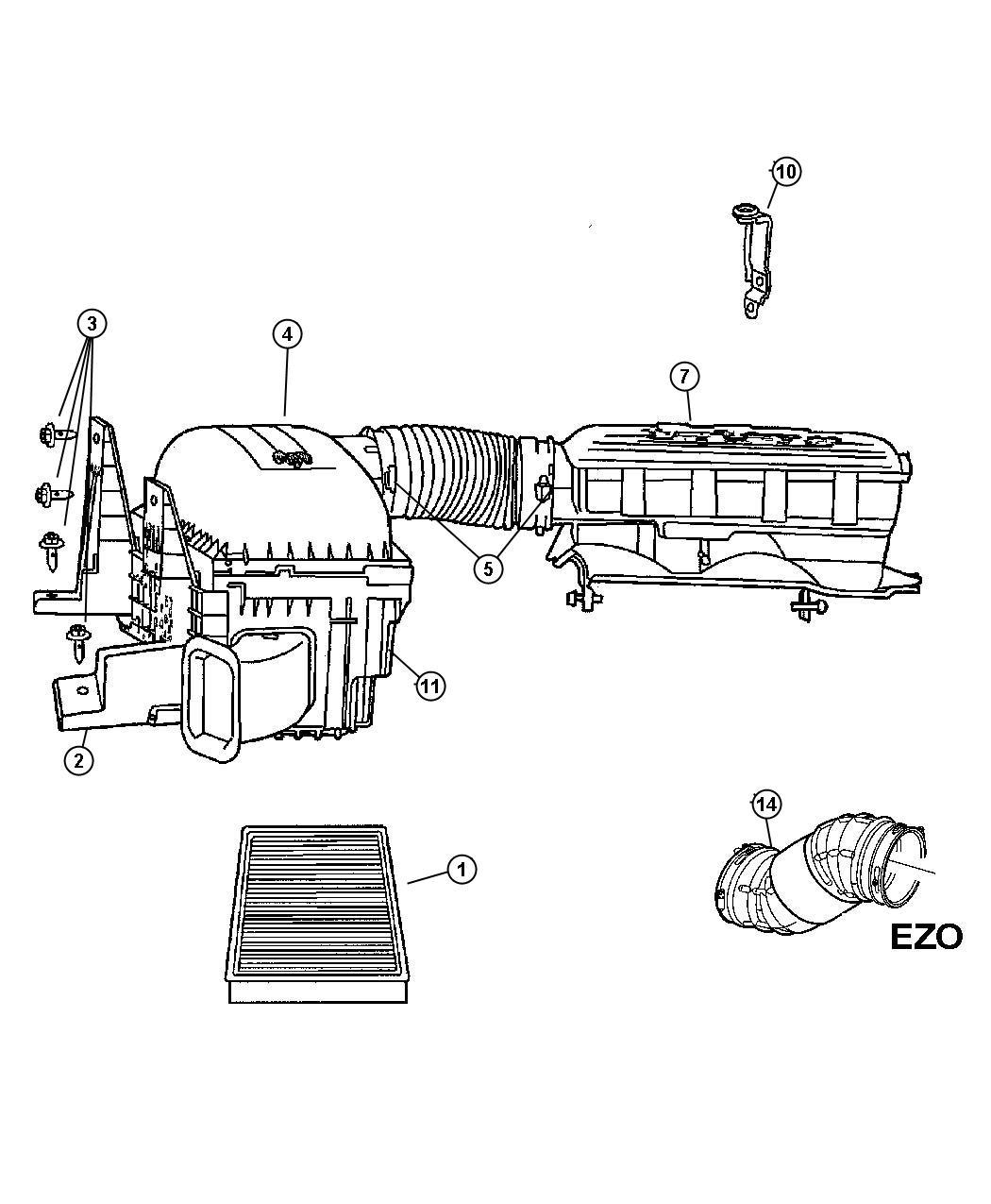 Dodge Ram 1500 Sensor  Temperature Barometric Absolute