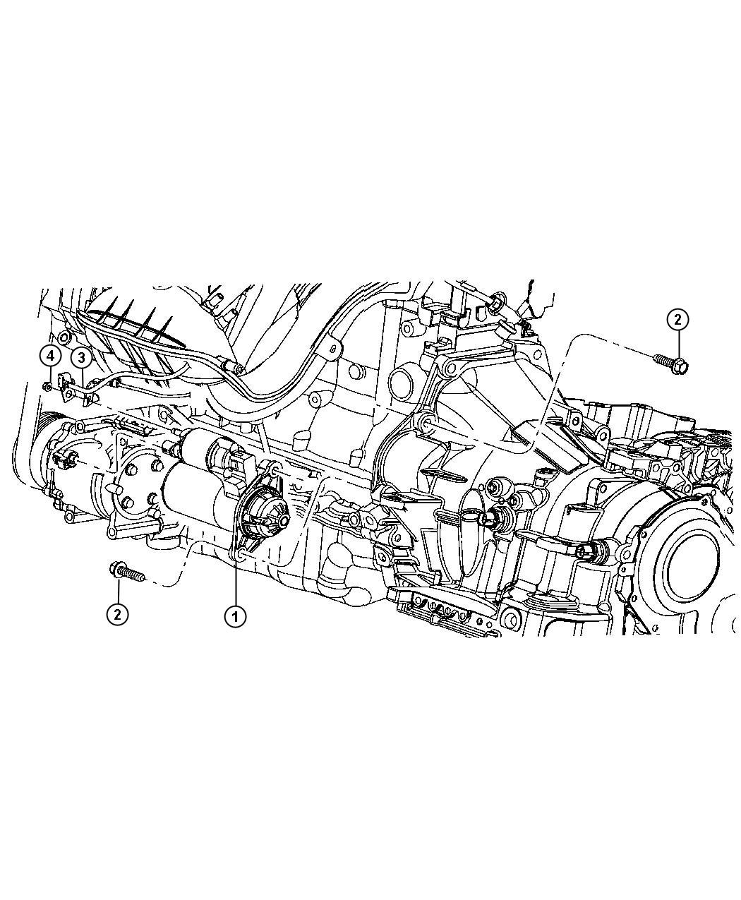 Dodge Stratus Starter  Engine