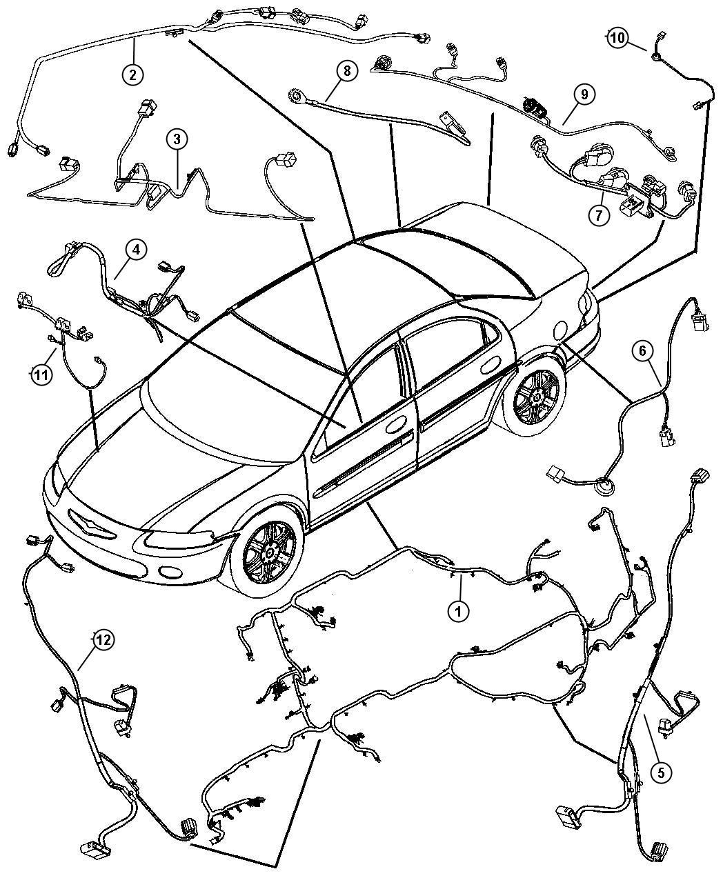 Chrysler Sebring Wiring. Unified body. Radioside ...