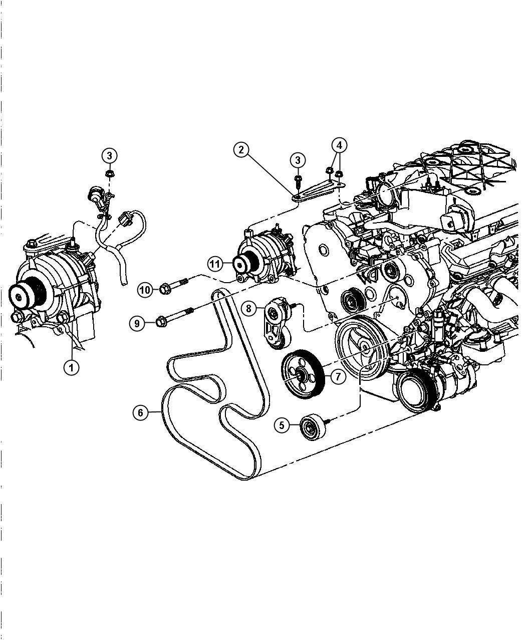 r4868760ah - mopar generator  remanufactured  engine   alternator