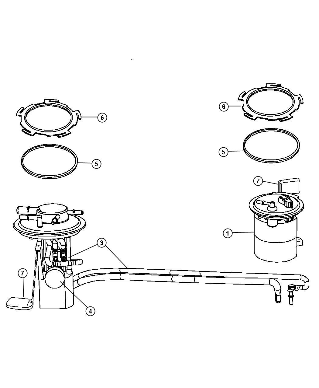 Chrysler Pacifica Flange Kit  Primary Fuel Module
