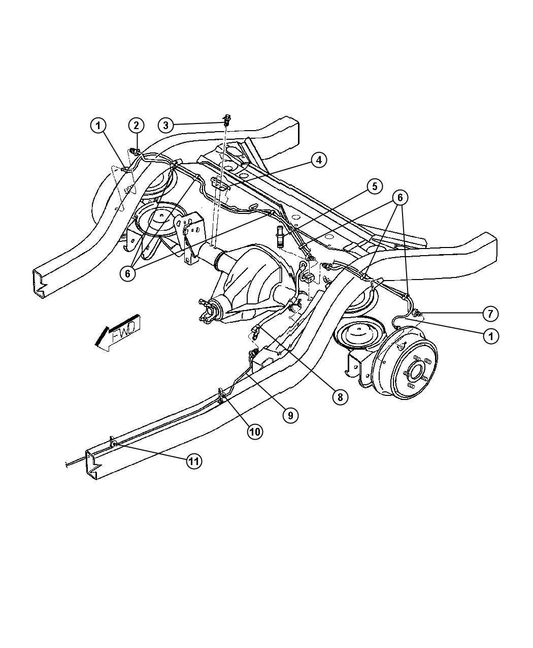 1997 Jeep Wrangler Tube. Brake. Left. [axle - rear, dana ...