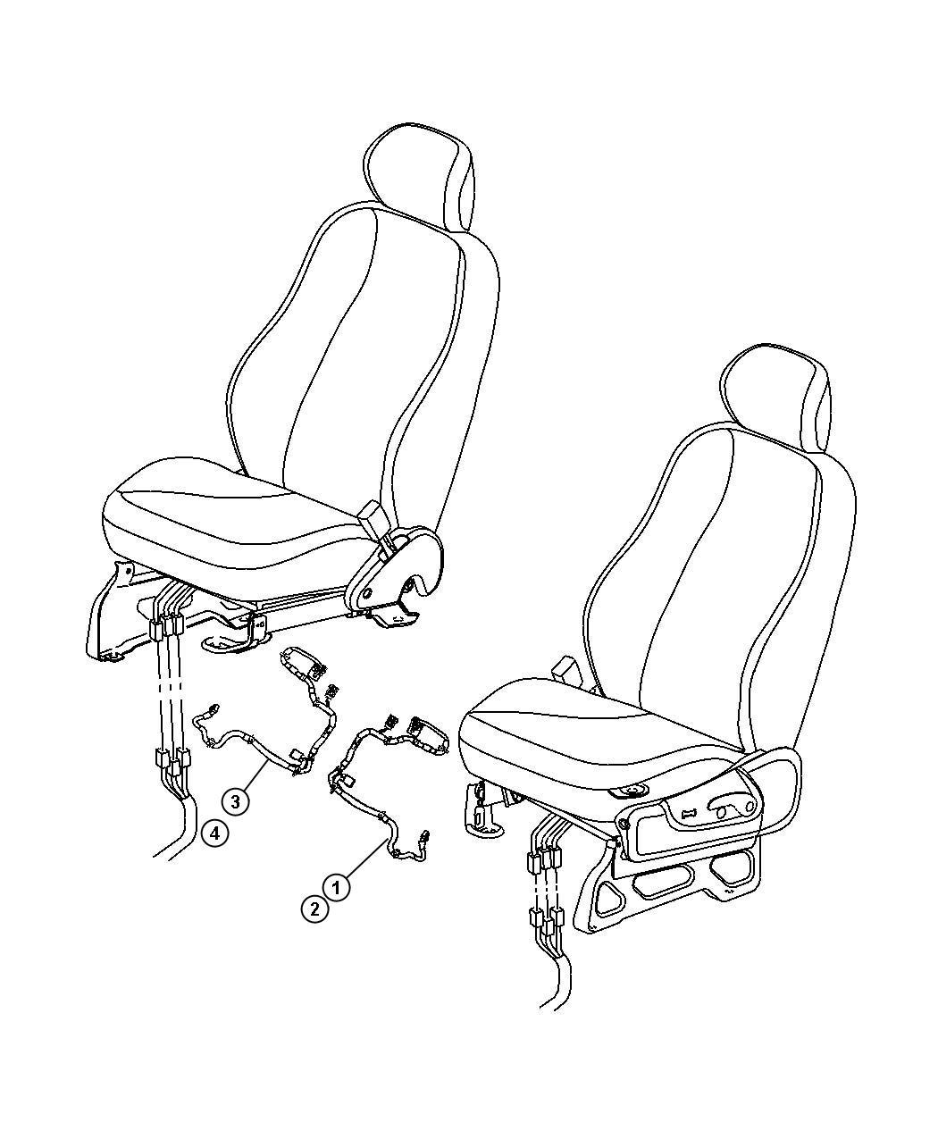05143005AA  Mopar    Wiring    Left Power    seat     cf5  jpt  jpm   power      heated     power and   Mopar