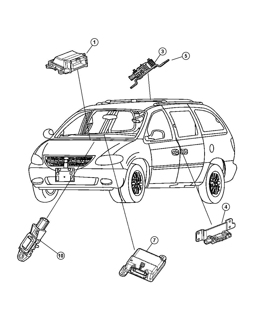 wiring diagram for 2002 chrysler town and country wiring dodge airbag sensor location