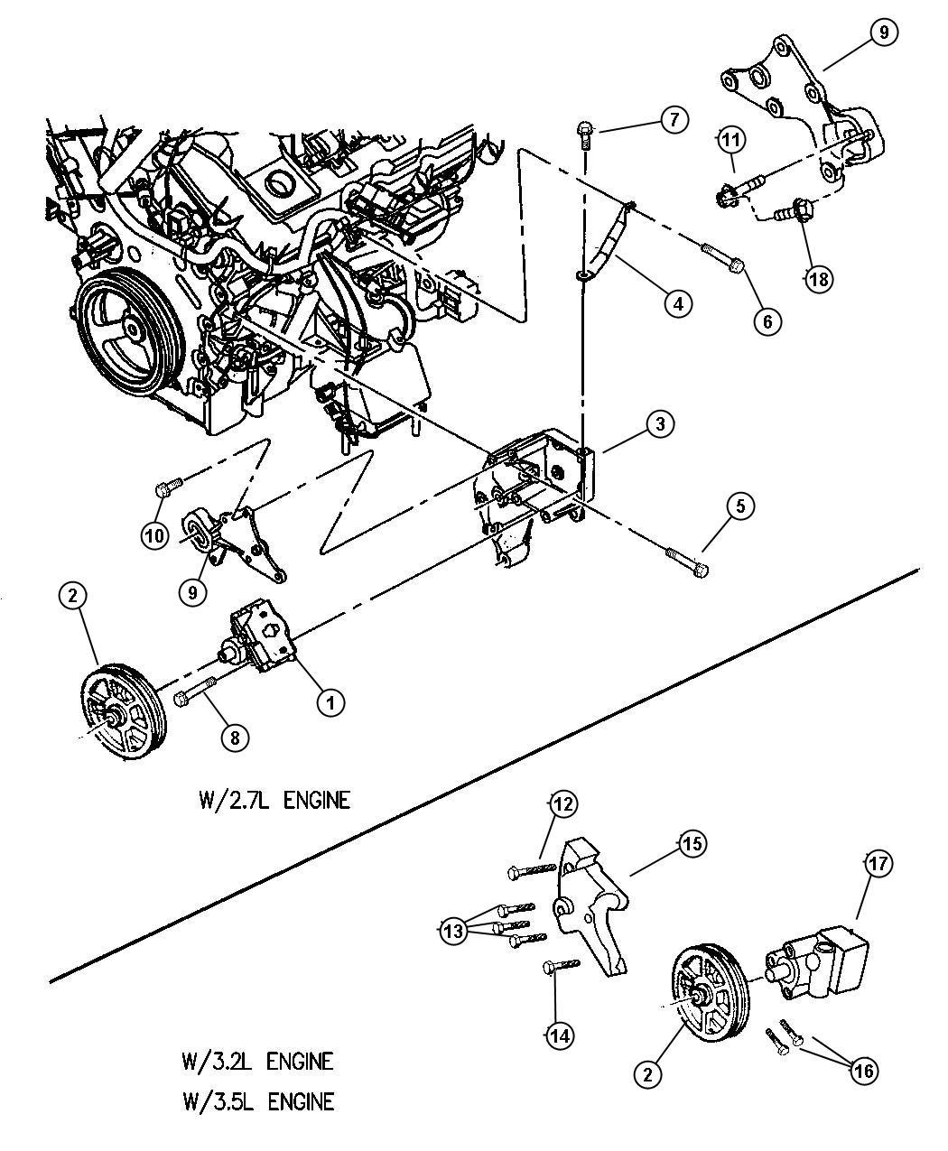 2000 Dodge Pump  Power Steering  Assys