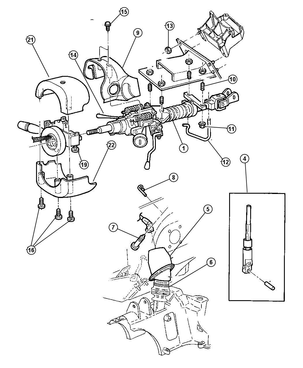 Chrysler Grand Voyager Cover  Steering Column Bearing