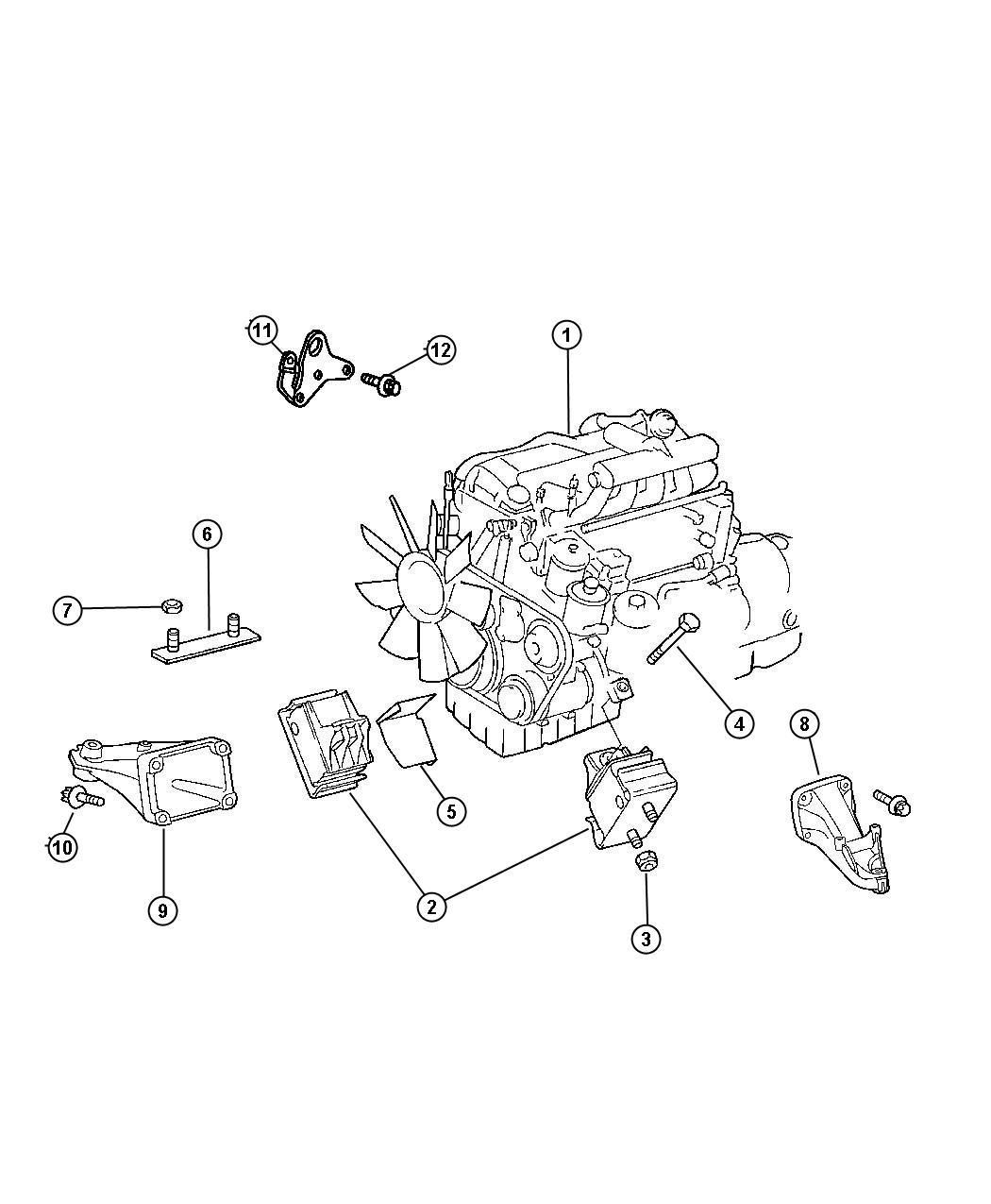 Dodge Sprinter Plate  Engine Mount  Cly
