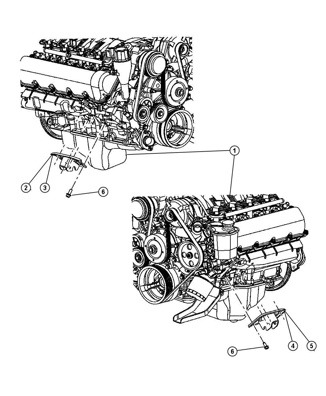 Chrysler Aspen Bracket  Engine Mount  Front Right  Right