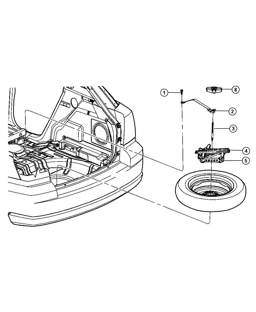 Dodge Caliber Sealant  Tire   Xfp  Tire Service Kit  Up To