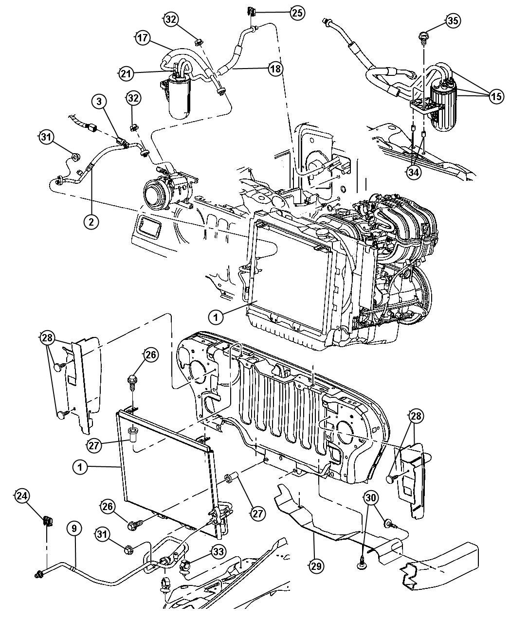 Jeep Parts Schematic Diagram Real Wiring 2013 Compass Engine 2007 2015 Oem Free Image Wrangler