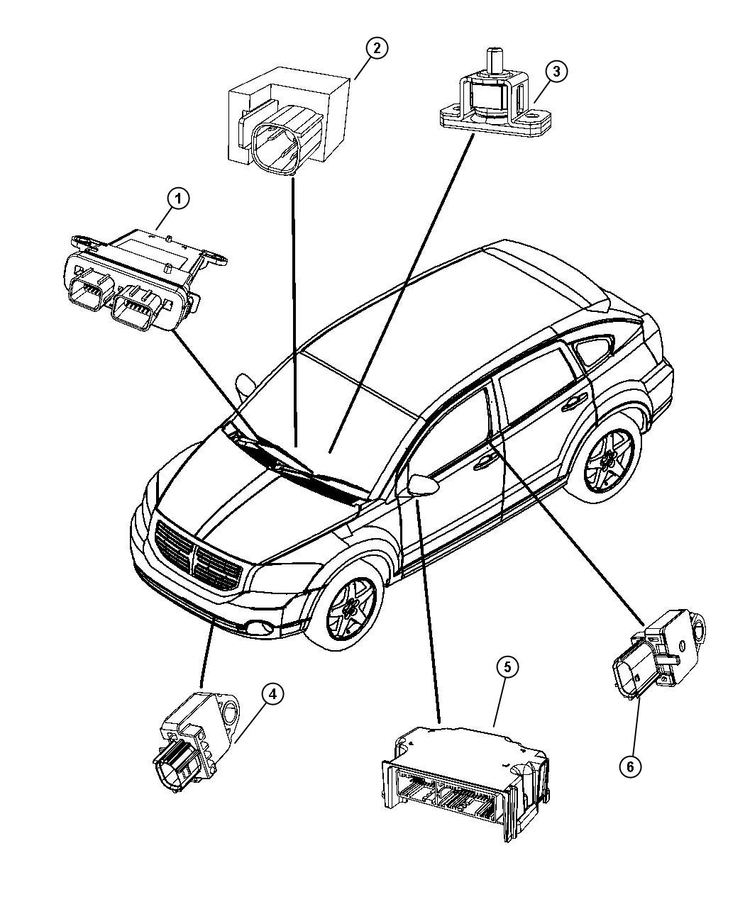 2007 dodge caliber engine mounts diagram