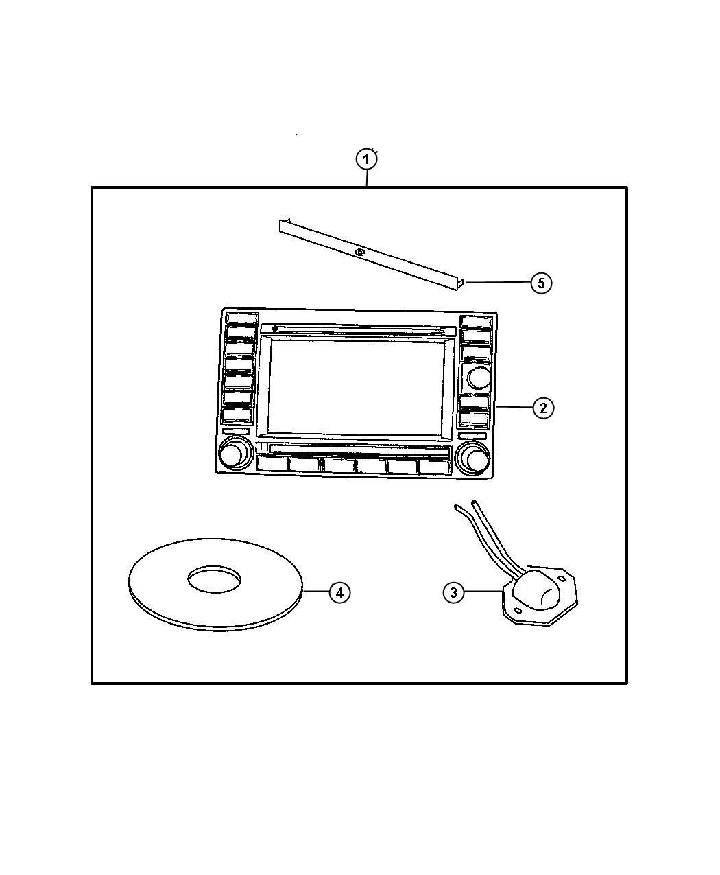 05064184ah mopar radio am fm cd w nav dvd cd ctrl. Black Bedroom Furniture Sets. Home Design Ideas
