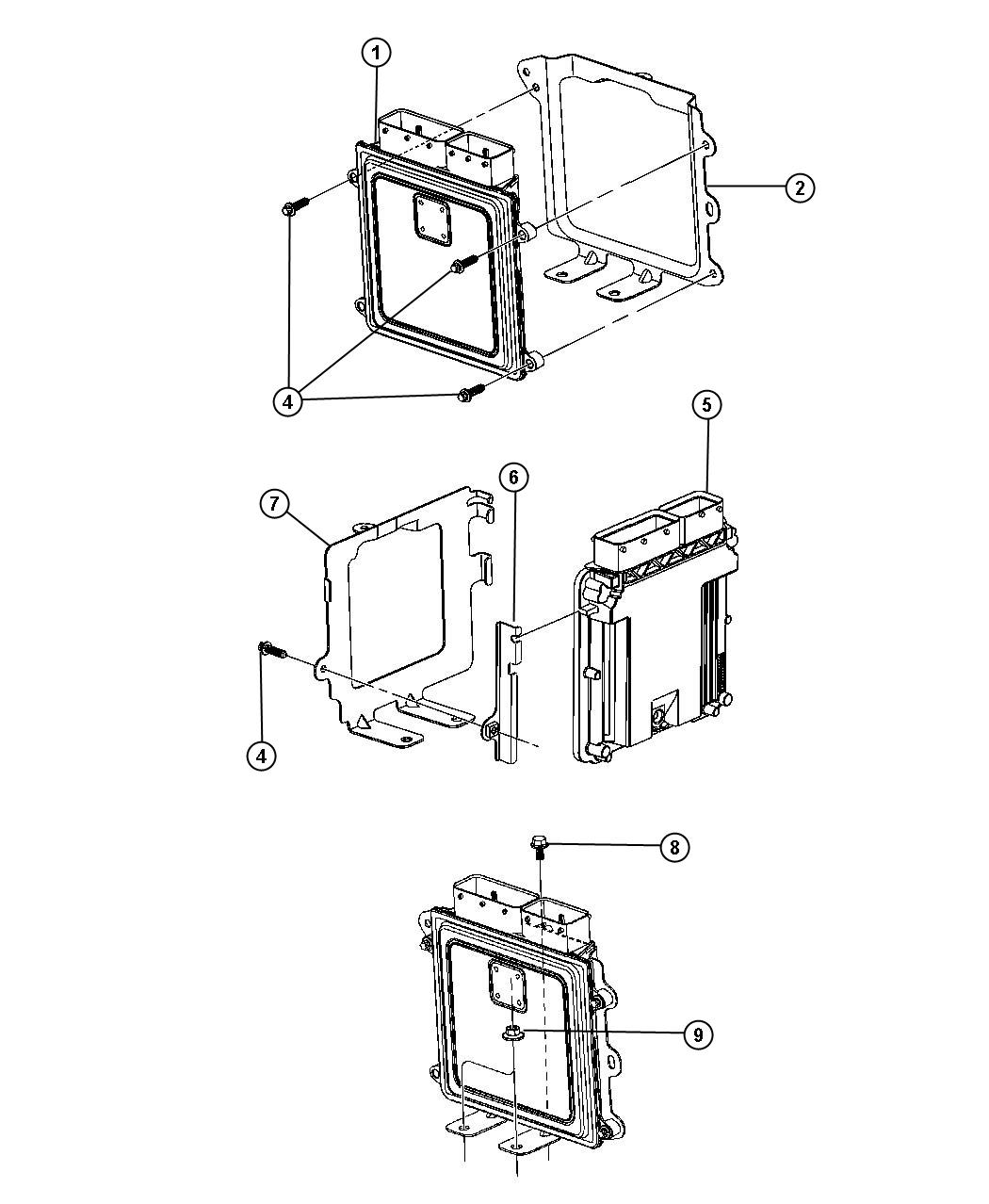 06104077aa jeep screw powertrain control module to. Black Bedroom Furniture Sets. Home Design Ideas
