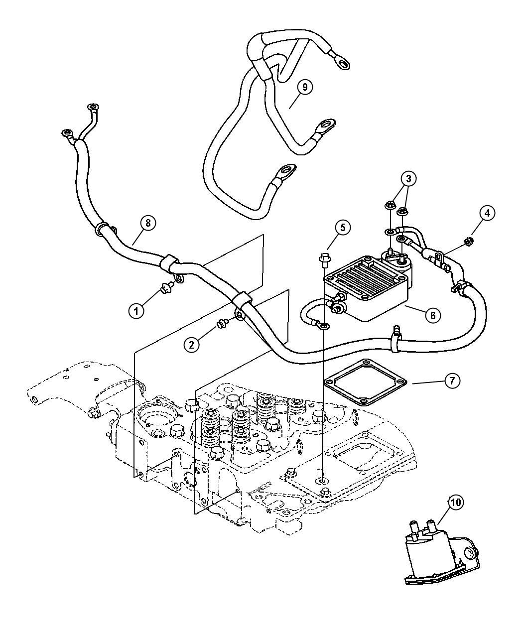 2007 Dodge Ram 3500 Wiring and Intake Heater Diesel.