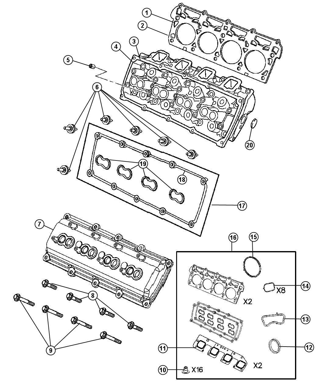 i2154319  L Hemi Engine Gasket Diagram on jeep grand cherokee, jeep cherokee, performance parts, engine pulley part number, engine pulley schematic, v8 horsepower, intake manifold upgrade,