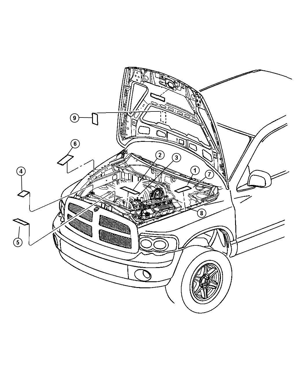 Dodge Ram 1500 Label  Emission
