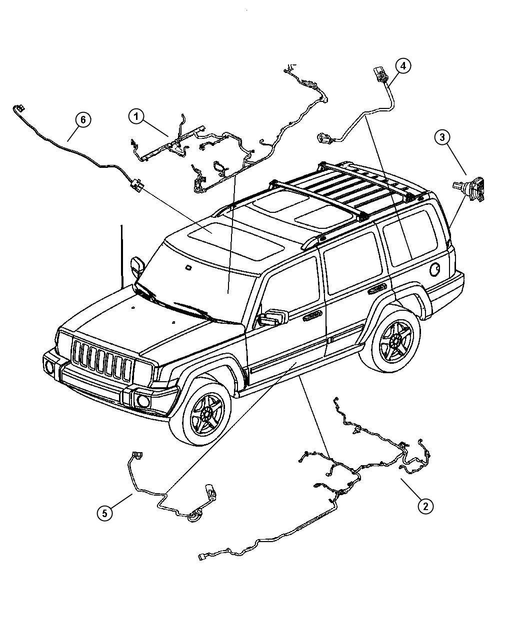 Jeep Commander Wiring  Underbody