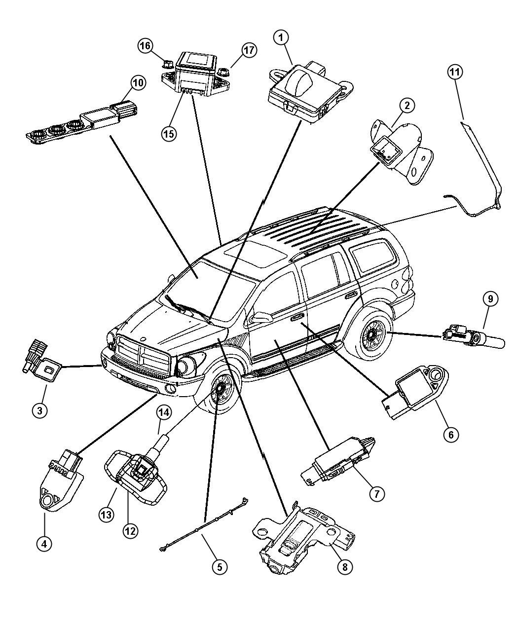 Dodge Durango Sensor Kit  Anti