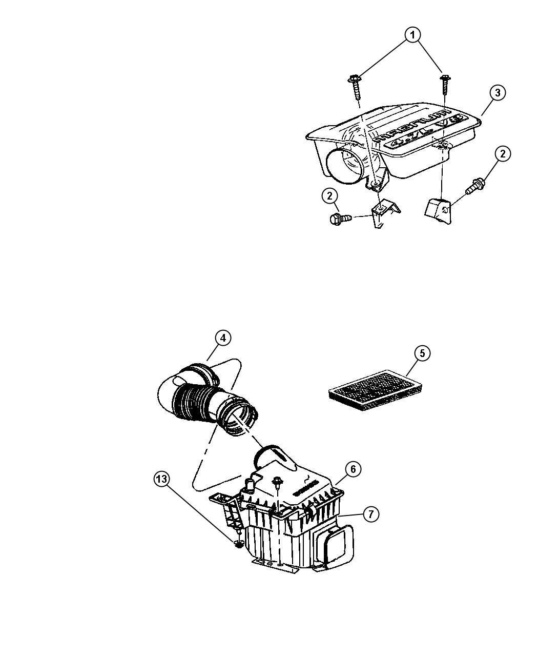 Chrysler Aspen Body  Air Cleaner