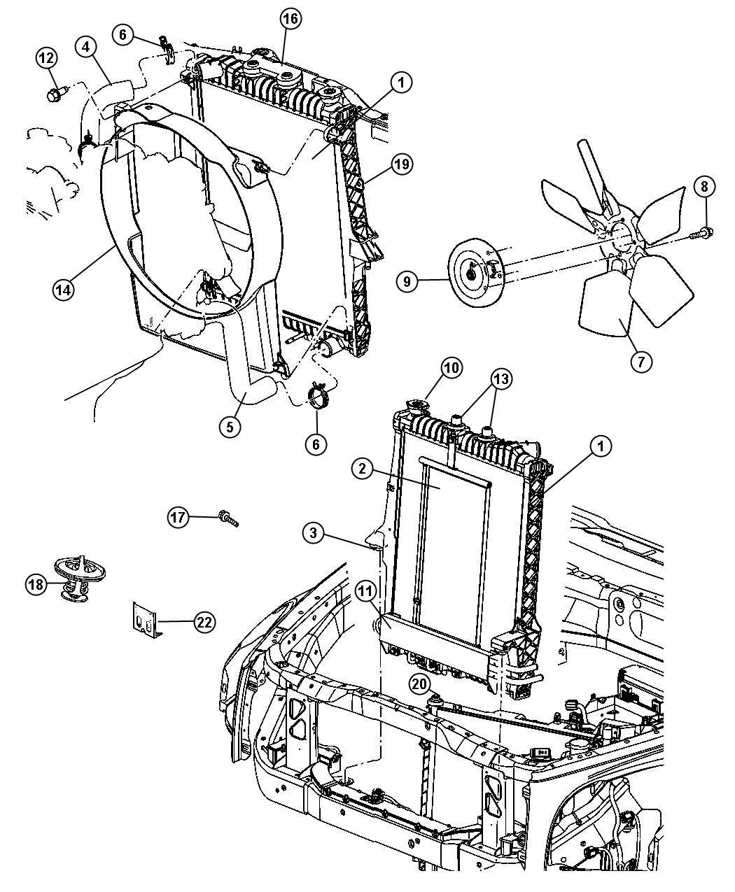 Chrysler Aspen Bracket  Cooling Module  Lower