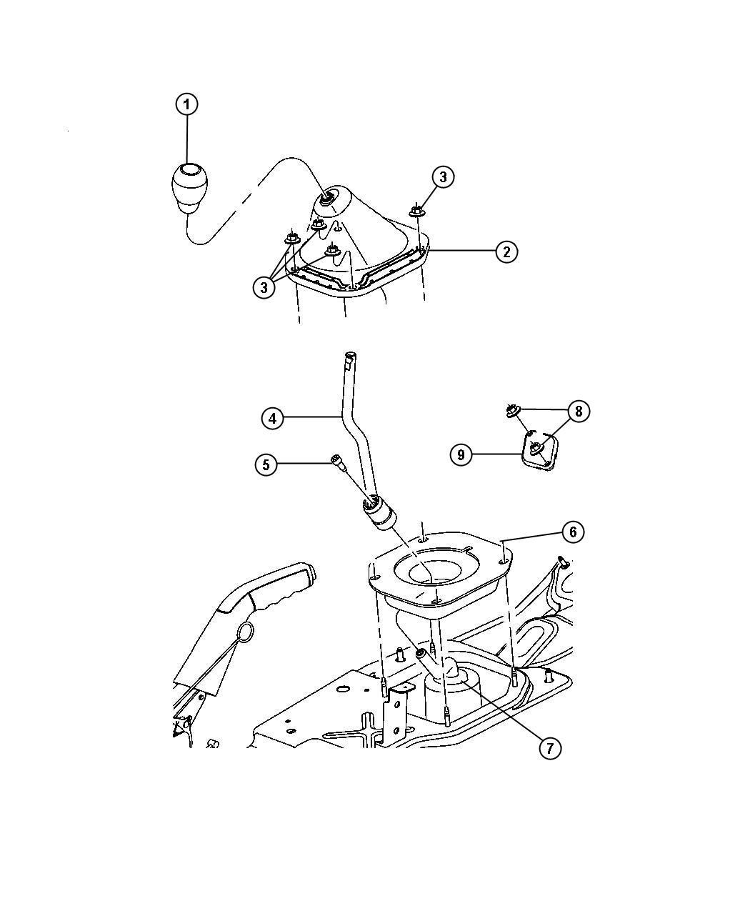 Dodge Nitro Screw  Cap  Trans Gear Shift Control Lever