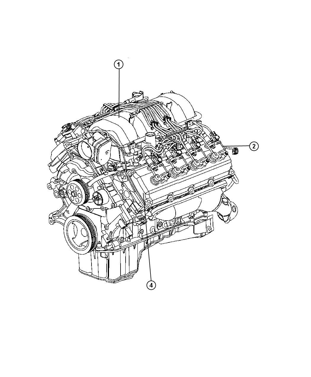 Jeep Grand Cherokee Engine  Long Block  Remanufactured