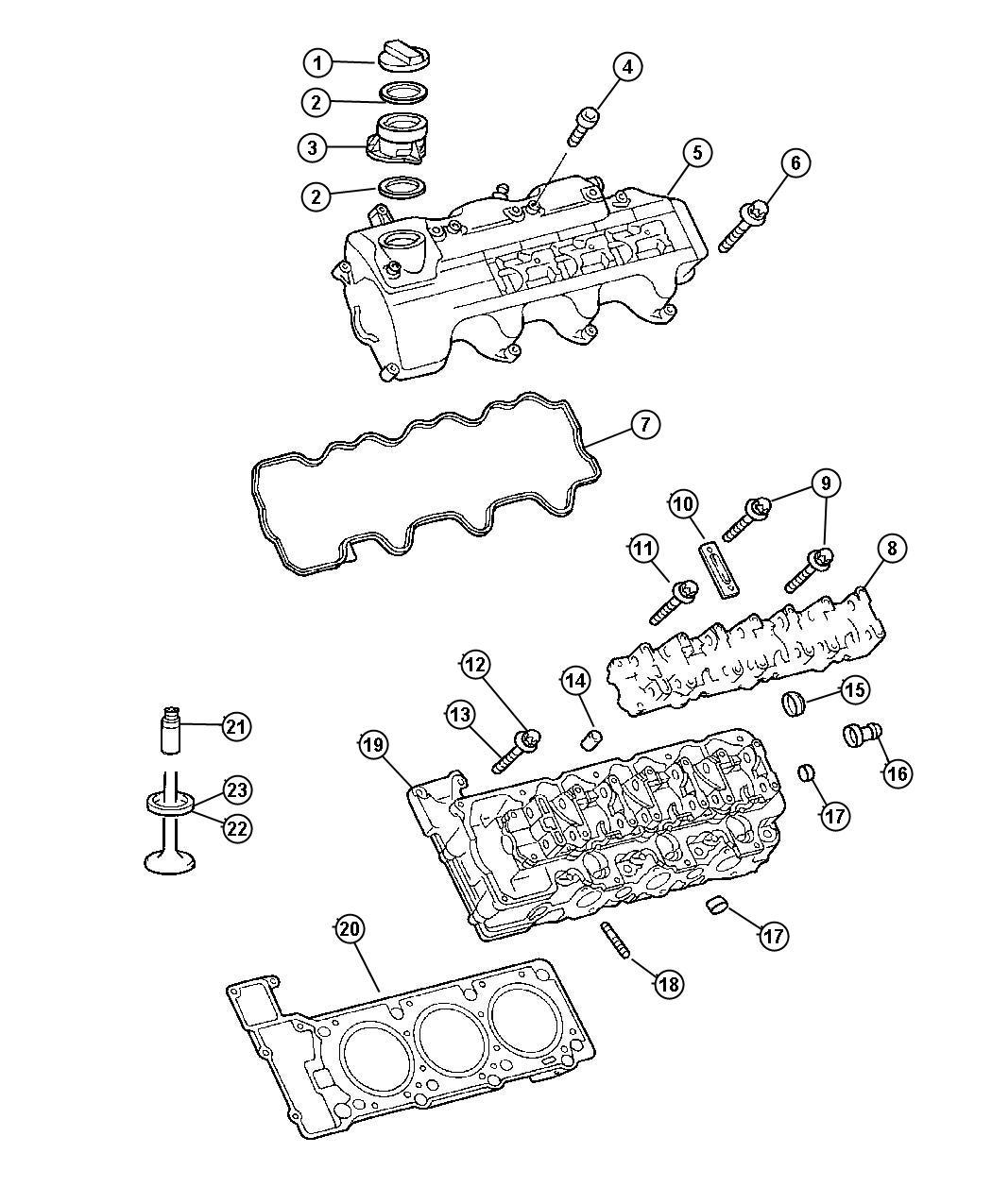 Chrysler Crossfire Gasket  Seal  Oil Fill Cap  Oil Filler