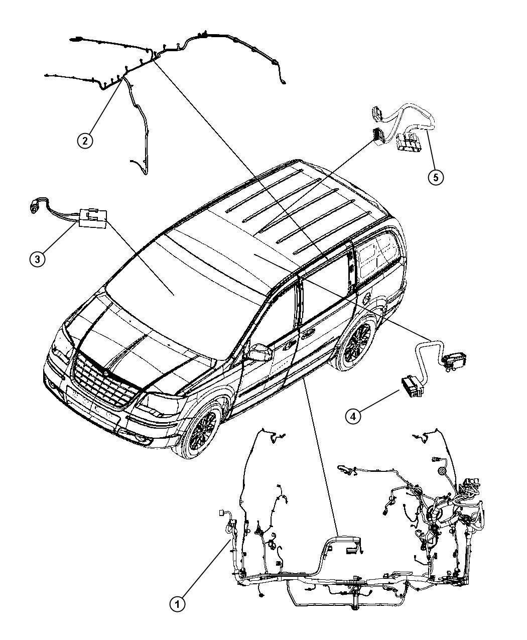 2008 Dodge Grand Caravan Sxt 3 8l V6 Wiring  Body  Upper