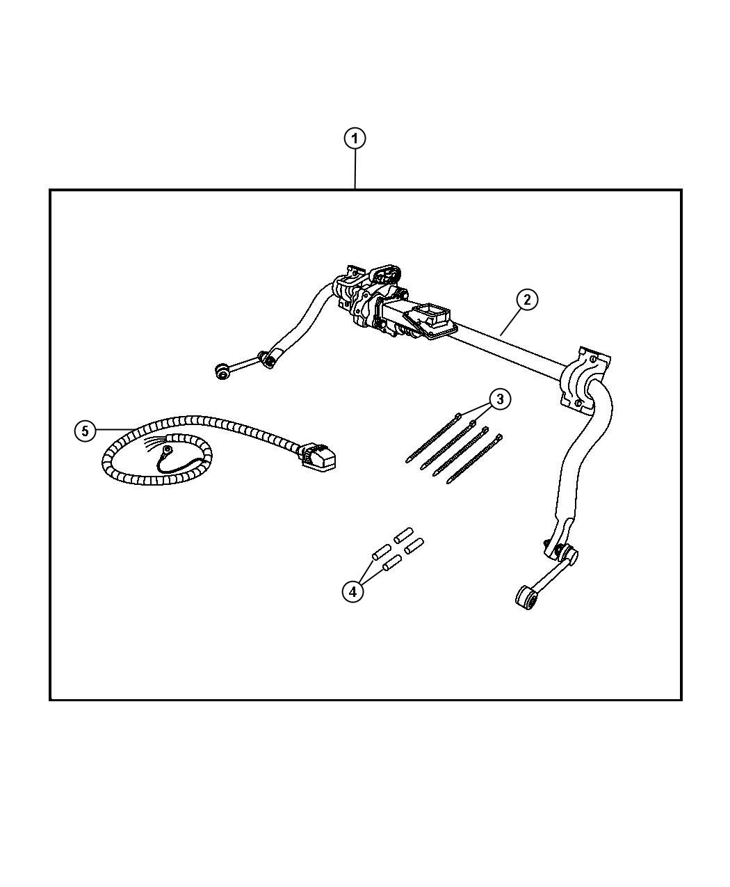 2012 dodge ram 1500 kit includes wiring  sway bar assembly  and i