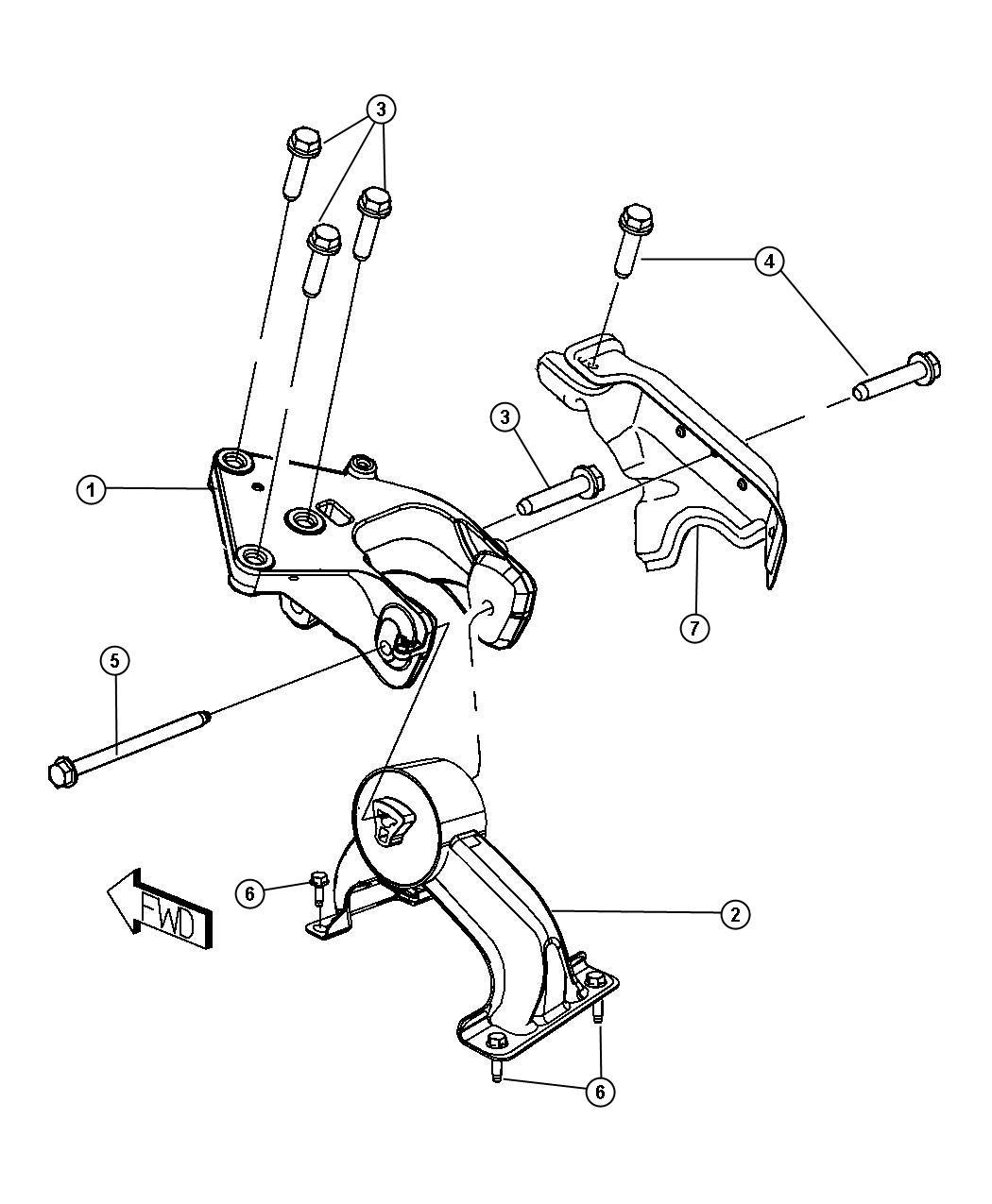Dodge Grand Caravan Engine Mount  Support  Transmission