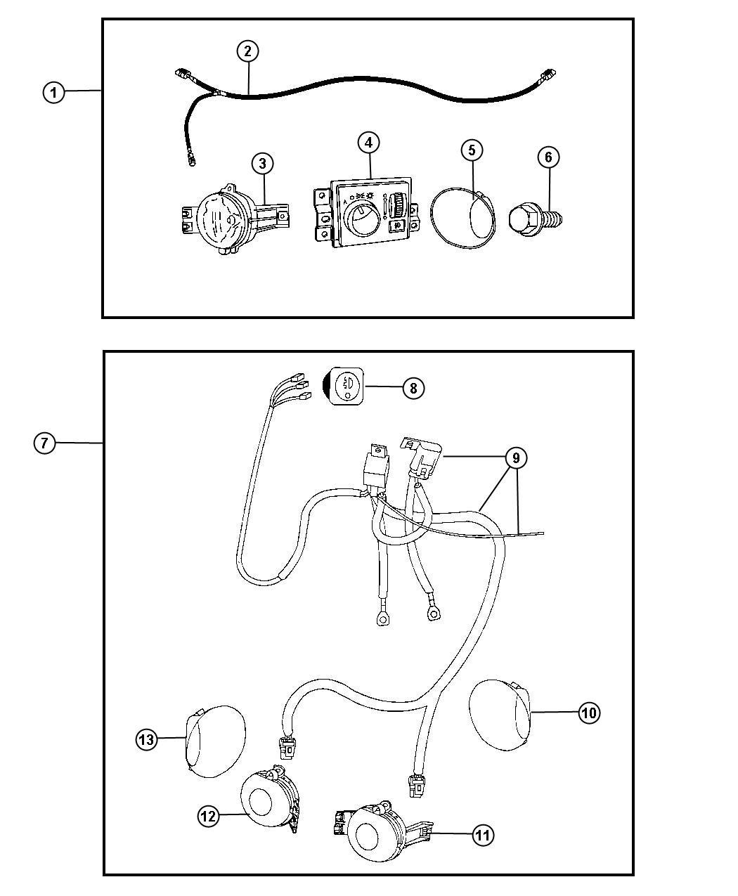 Dodge Ram 1500 Fog Lights  Complete Kit  Includes Switch