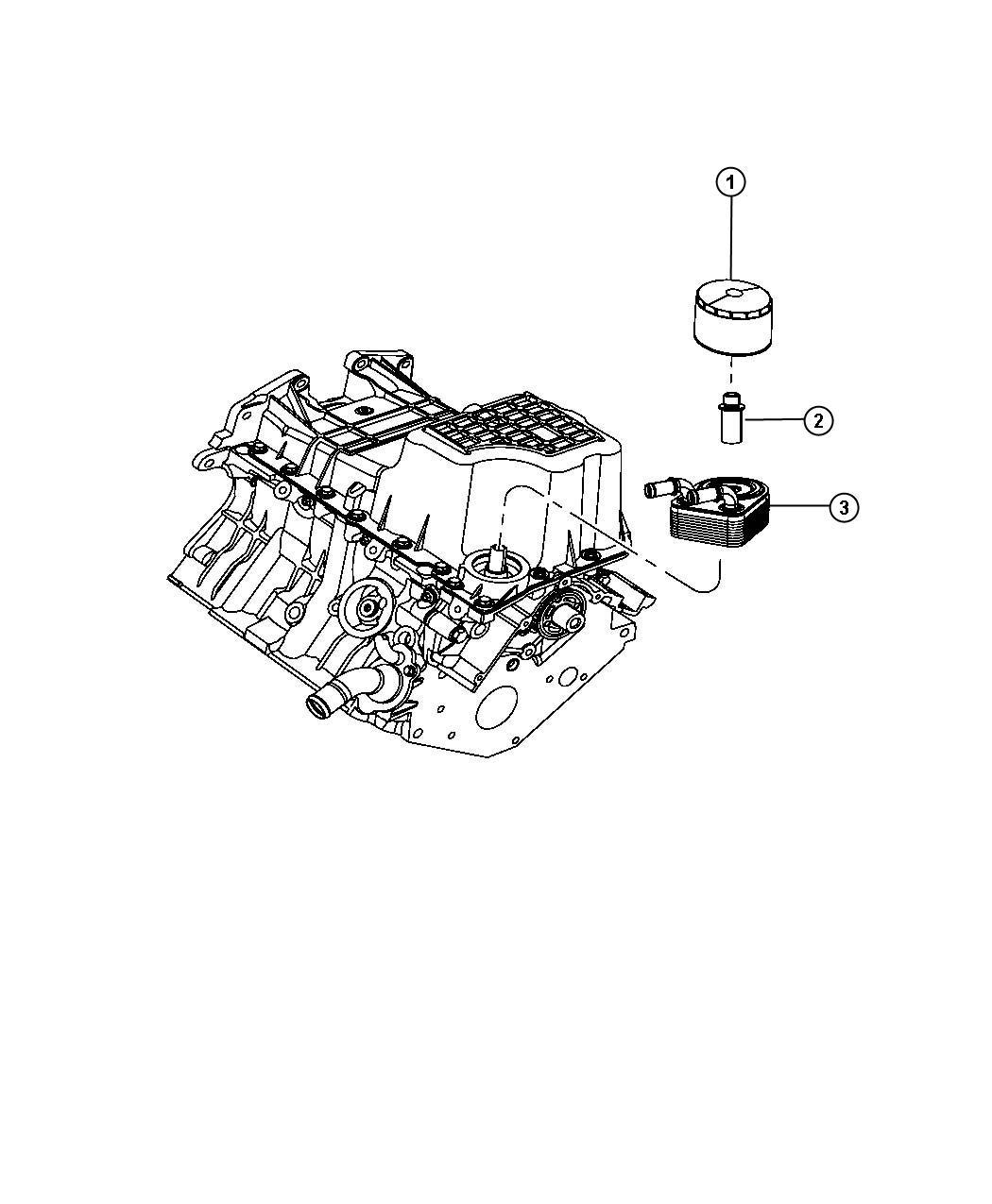 Dodge Nitro Fitting  Engine Oil Cooler