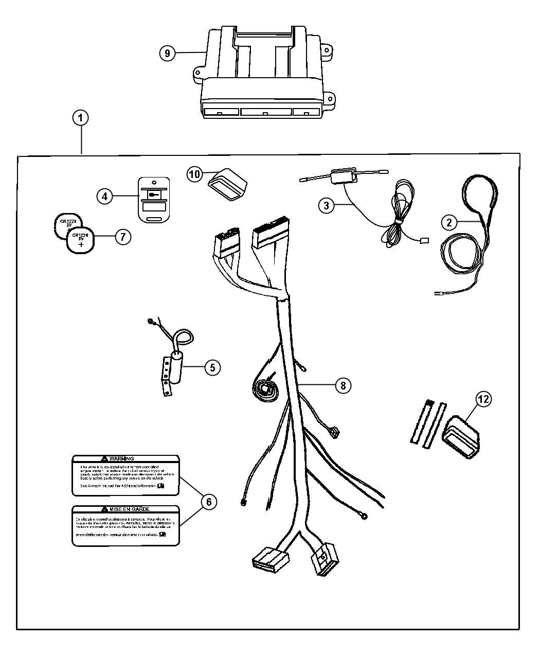 chrysler pacifica installation kit includes harness  long