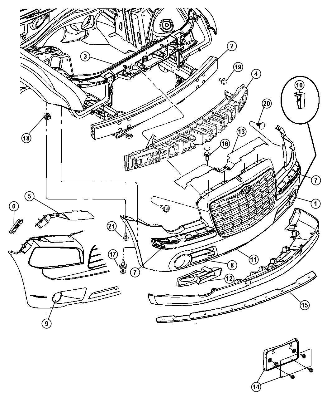 2008 Dodge Charger R  T 5 7l Hemi V8 Bracket  Fascia
