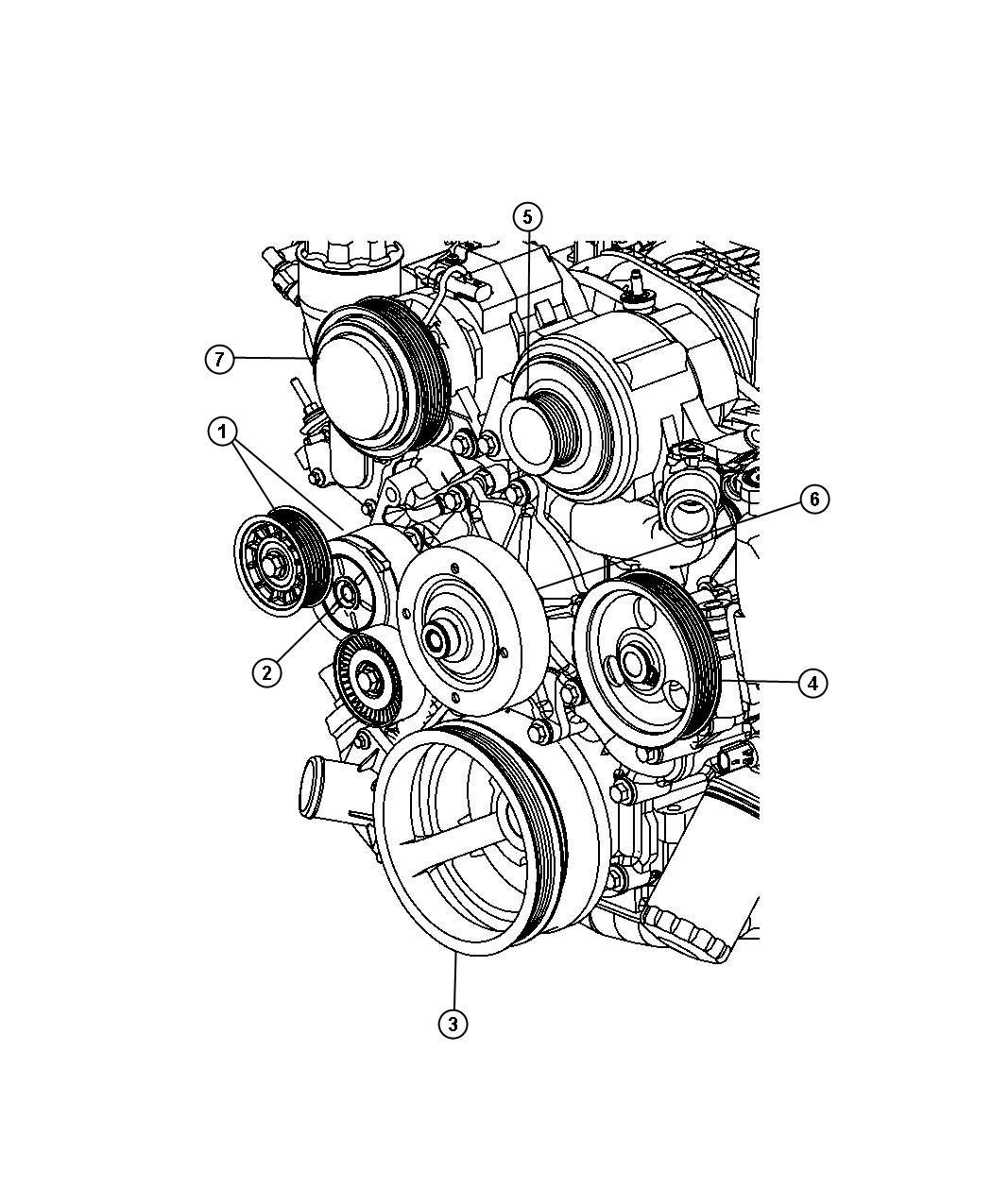 Dodge Ram 1500 Pulley  Power Steering Pump  Sreering