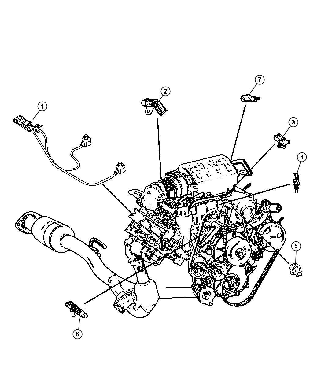 Chrysler Pacifica Sensor  Knock  Detonation